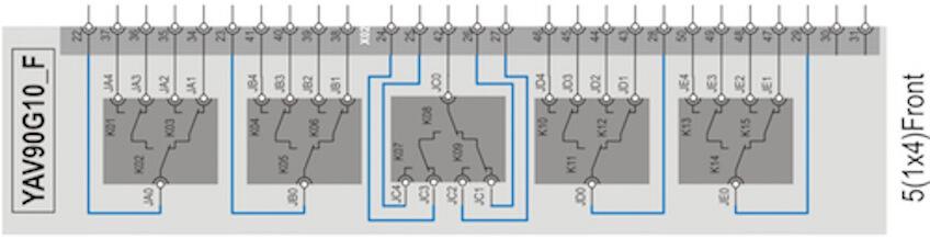 YAV90G10F 6 GHz 50 Ohm MCX Multiplexer