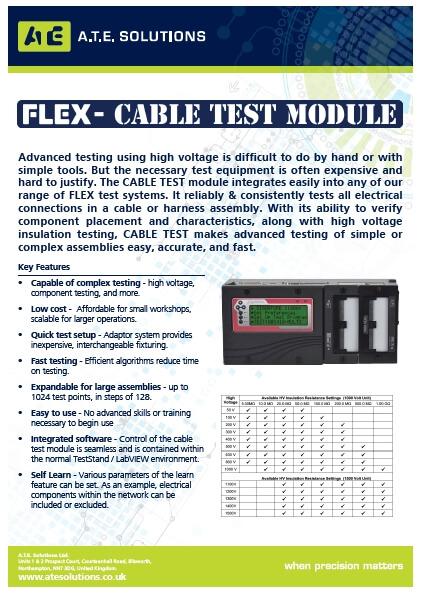 Flex-Cable test module datasheet
