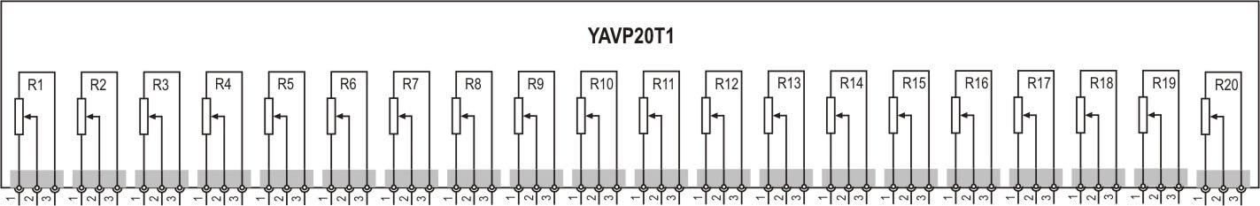 YAVP20T1 6200.32 20-Trimmers 20-Turns PCB